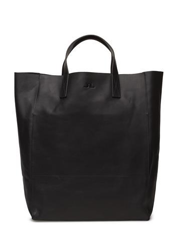 J. Lindeberg Tote Raw Leather BLACK