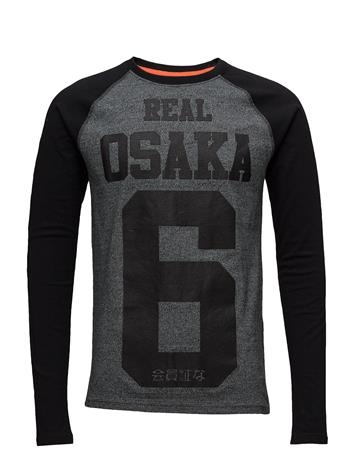 Superdry Real Osaka 6 L/S Raglan Tee BLACK