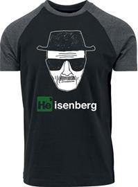 Breaking Bad Heisenberg T-paita musta-hiilenharmaa