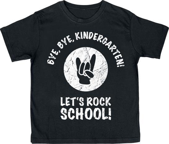 Bye Bye Kindergarten! Let`s Rock School! Lasten paita musta