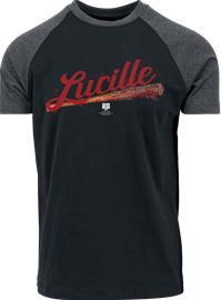 The Walking Dead Lucille T-paita musta-hiilenharmaa