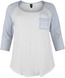Tuhkimo Midnight Naisten pitkähihainen paita valkoinen-vaaleansininen