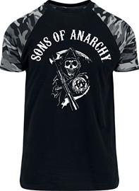 Sons Of Anarchy Reaper T-paita musta-camo