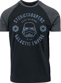 Star Wars Galactic Empire Stormtrooper T-paita musta-hiilenharmaa