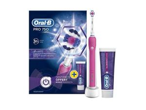 Oral-B hammasharja PRO 750 + hammastahna 75 ml vaaleanpunain , OtherHealthCareProducts