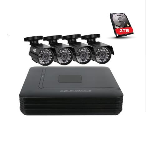 HISEEU-seurantapakkaus 4-kamerat 720P Säänkestävä