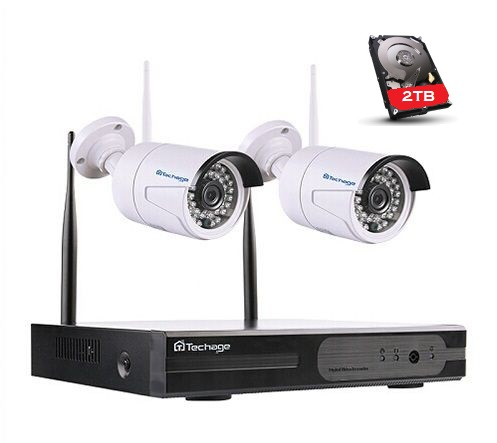 Techage-valvontajärjestelm Langattomat IP-kamerat Wi-Fi NVR Kit 720P