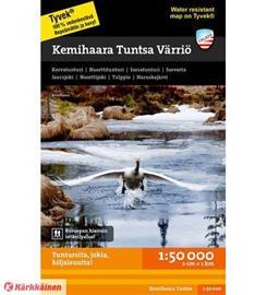 Calazo Kemihaara Tuntsa Värriö 1:50 000, retkeilykartta