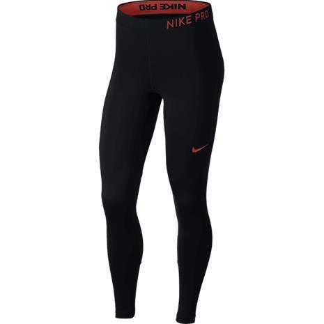 Nike W PRO TIGHT BLACK/BLACK/RUSH C