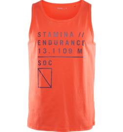 Soc M GRAPHIC TANK ORANGE/PRINTED
