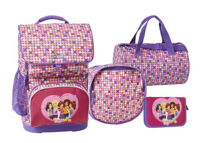LEGO - Optimo School Bag Set (4 pcs.) - Friends - Confetti (20097-1814)