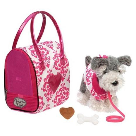 Pucci Pups - Schnauzer with Pink and White Bag (708343)