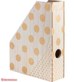 Kotoilu Dots 26x8x33 cm lehtikotelo