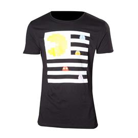 Pac-Man t-paita - Pac-Man ja haamut (musta) (L)