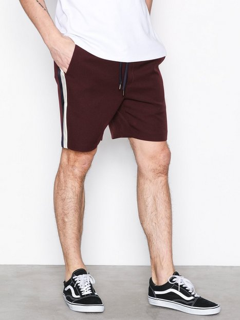 Topman Burgundy Satin Side Stripe Shorts Shortsit Burgundy 3b57638b35