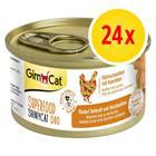 GimCat Superfood ShinyCat Duo 24 x 70 g - kanafile & porkkana