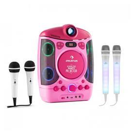 Kara Projectura pink + Dazzl Mic Set - karaokesetti