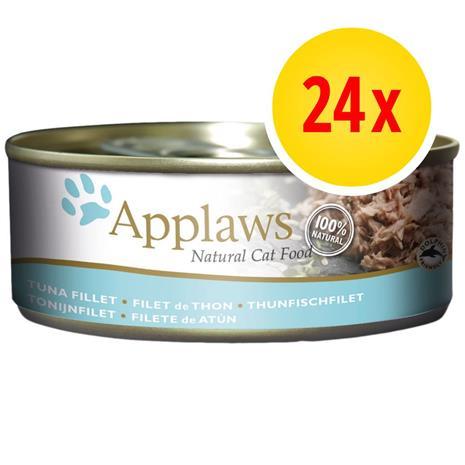 Säästöpakkaus: Applaws in Broth 24 x 156 g - tonnikala