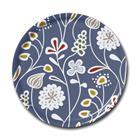 Klippan Yllefabrik Flower meadow tarjotin pyöreä sininen