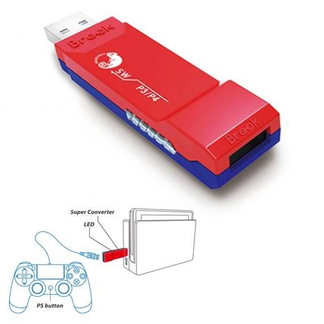 Brook PS4/PS3 Switch Adapter, ohjainadapteri