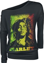Bob Marley Rasta Naisten pitkähihainen paita musta