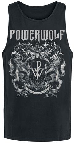 Powerwolf Crest Tank-toppi musta