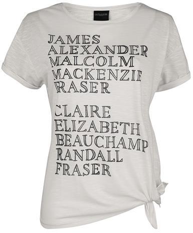 Outlander Names Naisten T-paita luonnonvalkoinen