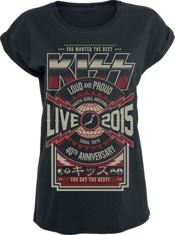Kiss Japan Live 2015 Naisten T-paita musta