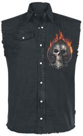 Spiral Ace Reaper Hihaton worker-paita musta