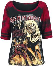 Iron Maiden EMP Signature Collection Naisten pitkähihainen paita musta-punainen