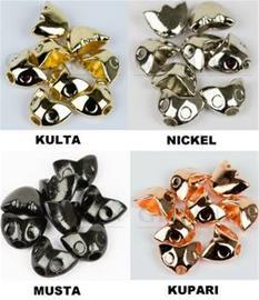 Grimman Sculpin Head + 3D Eyes 12 x 9mm Perhonpäät 8kpl + silmät, gold