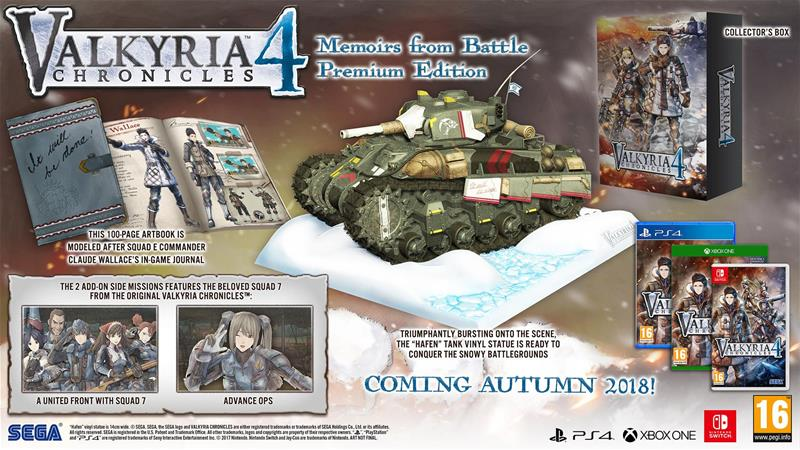 Valkyria Chronicles 4: Memoirs from Battle Premium Edition, PS4 -peli