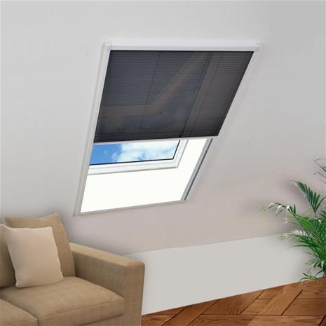vidaXL Laskostettu hyönteisverkko ikkunaan 130x100 cm alumiini
