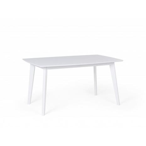 Beliani Jatkettava ruokapöytä 150/195 cm - valkoinen SANFORD