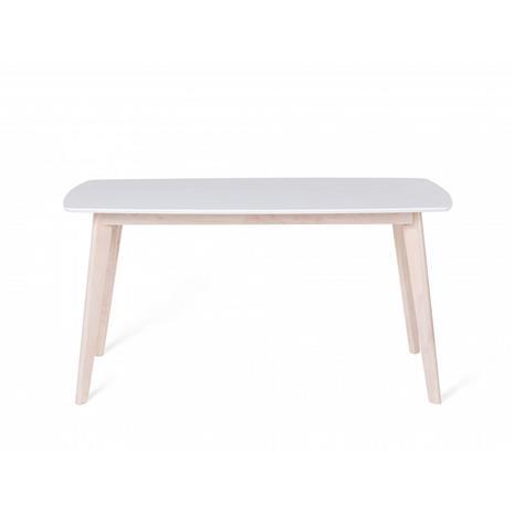 Beliani Klassinen valkoinen ruokapöytä 150x90 cm - SANTOS