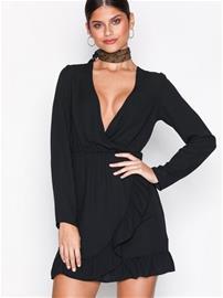 Missguided Detail Tea Dress Skater-mekot Black