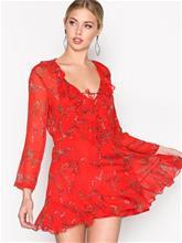 IRO Lucine Dress Skater-mekot Red