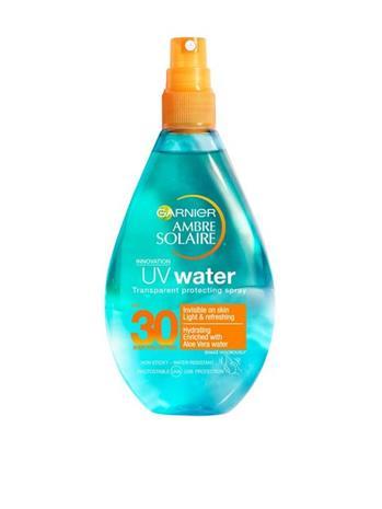 Garnier Solar Water SPF 30 150 ml Suihkeet Läpinäkyvä