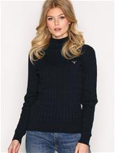 GANT Stretch Cotton Cable Turtle Neck Neuleet Evening