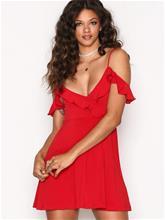 Motel Cannes Skater Dress Skater-mekot Red