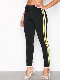 Missguided Double Side Stripe Jogger Housut Black