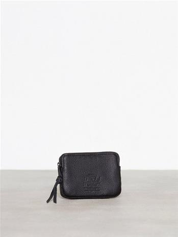 Herschel Oxford Pouch Leather RFI Lompakot Black