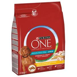 Purina ONE Medium/Maxi Junior Chicken - 5 x 2,5 kg