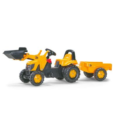 ROLLY TOYS rollyKid Traktori peräkärryllä ja etukauhalla JCB 023837