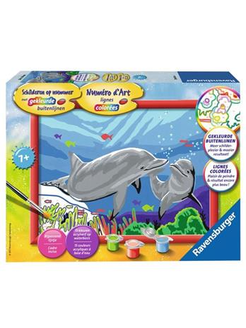 Ravensburger Painting by numbers-dolphins