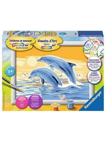 Ravensburger Painting by numbers-jumping dolphins