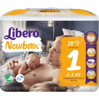 Libero Teippivaippa 28 kpl Newborn 1 2-5 kg