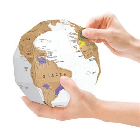 Kolmiulotteinen Scratch Map Maailmankartta - Tee se itse