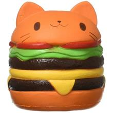 Squishy Cat Hamburger Food Squishys Cake Stress Relief toys Scented Squeeze