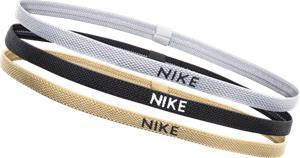 Nike ELASTIC HAIRBANDS 3PK SILVER/BLACK/GOLD